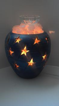 """""""Хай-тек"""" соляной светильник из Крымской розовой соли 1кг."""