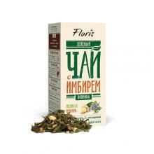 Зеленый чай с имбирем Чай в пачках Флорис