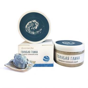 Скраб для тела голубая глина 250 гр Душистый мир