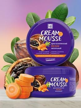Крем косметический Cream-Mousse для ухода за кожей тела питательный, 220г Царство ароматов