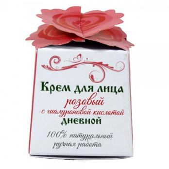 Крем для лица розовый с гиалуроновой кислотой дневной
