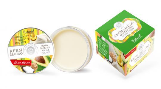 Крем-масло для тела Нежные пяточки с маслом Авокадо Дом природы
