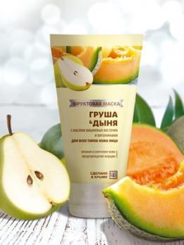 Фруктовая маска Груша и Дыня для всех типов 140г Царство ароматов купить
