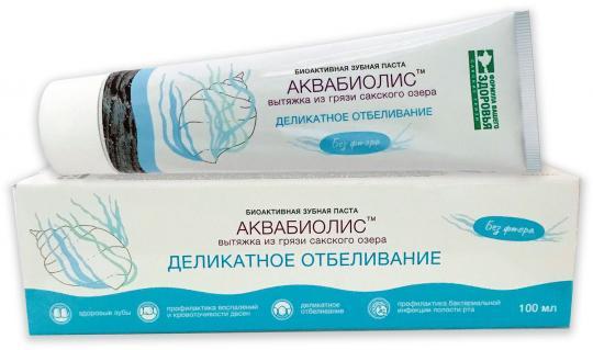 Биоактивная зубная паста Деликатное отбеливание АКВАБИОЛИС