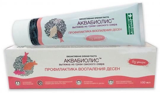 Биоактивная зубная паста Профилактика воспаления десен АКВАБИОЛИС Формула здоровья