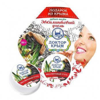 Зубная паста Эвкалиптовый уголь 33гр Доктор Крым