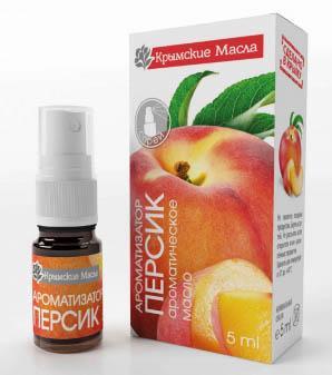 ароматическое масло персик спрей Крымские масла купить