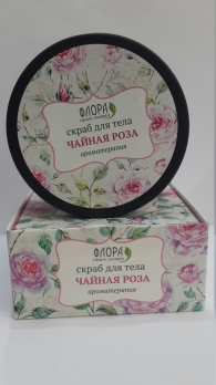 Маслянные скраб Чайная роза ароматерапия Флора