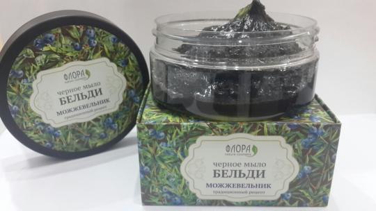 Черное мыло Бельди Можжевельник 150 г Флора