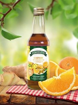 """Сироп """"Апельсин с имберем"""" 0,25л ЦА"""
