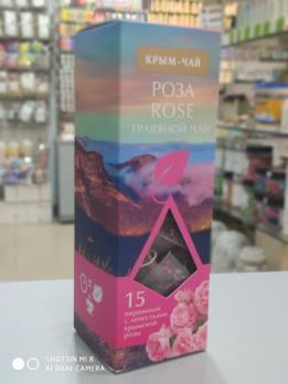 Чай в пирамидках Крым Чай Rose  15 пак