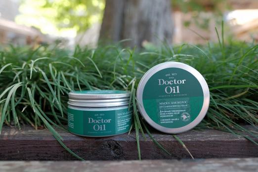 Маска для волос Витаминизированнаядля сильно поврежденных волос и волос после окрашивания с ЗЕЛЁНОЙ ГЛИНОЙ И ШИПОВНИКОМ 200 г Doctor Oil