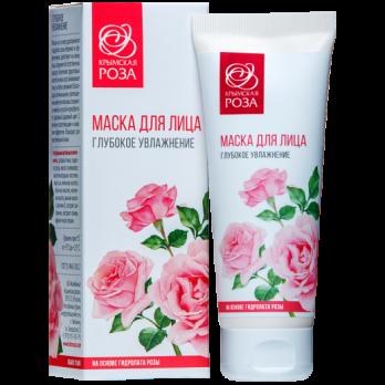 МАСКА ДЛЯ ЛИЦА ГЛУБОКОЕ УВЛАЖНЕНИЕ 75 МЛ Крымская роза купить косметика