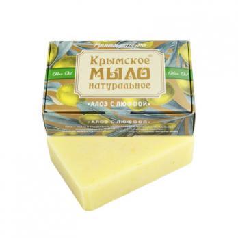 Крымское мыло натуральное Алоэ с люффой 100гр  Дом природы купить