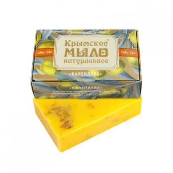 Крымское мыло натуральное Календула  100гр Дом природы купить