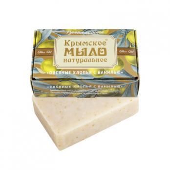 Крымское мыло натуральное Овсяные хлопья с ванилью  100гр Дом природы купить