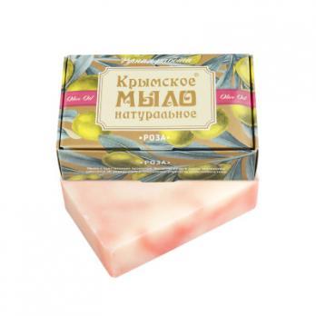 Крымское мыло натуральное Роза 100гр Дом природы купить
