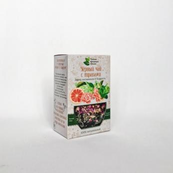 Черный чай с травами Заряд витаминов & Бодрость КРЫМСКИЕ ТРАДИЦИИ  50гр
