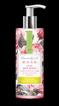 Гель для душа с абсолютом розы и экстрактом лимона Розовое совершенство Дом природы