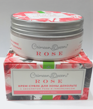 Крем-суфле для зоны декольте с абсолютом розы и экстрактом гамамелиса Нежная роза Дом природы
