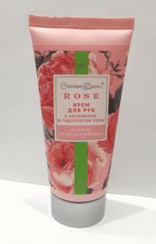 Крем для рук Нежное прикосновение с гидролатом розы и абсолютом розы Дом природы