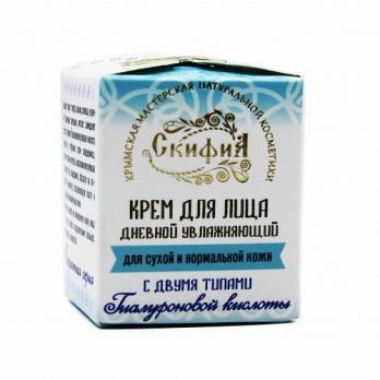 Крем для лица с двумя видами гиалуроновой кислоты дневной для сухой кожи 30мл Скифия