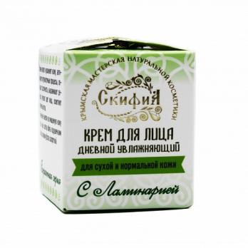 Крем для лица с экстрактом ламинарии, увлажняющий, дневной для сухой кожи 30мл Скифия