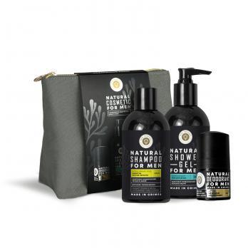 Подарочный набор Natural cosmetic Set for men с Комплексом водорослей Черного моря Дом природы