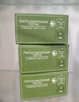 Doctor Oil liposystem патчи для глаз зеленый чай и алоэ 10 пар