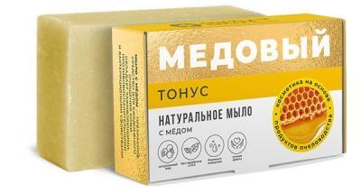 Мыло медовое Тонус с мёдом 100г дом природы