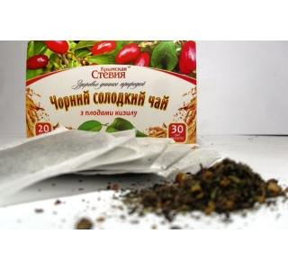Черный чай со стевией и кизилом 30 грамм 20 ф Крымская стевия купить