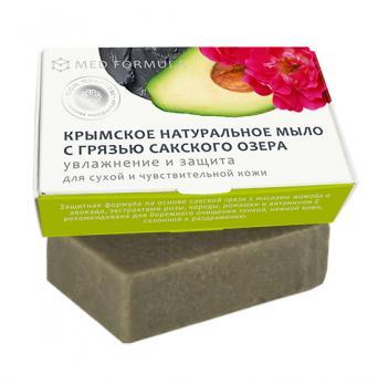Мыло на основе лечебной грязи Сакского озера MED formula Увлажнение и защита Дом природы купить
