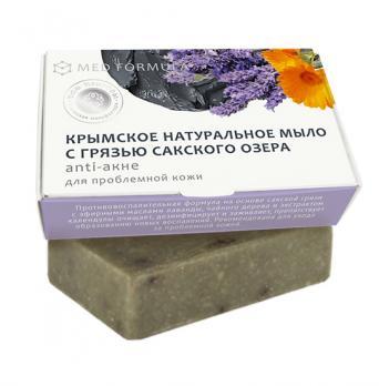 Мыло на основе лечебной грязи сакского озера MED formula Аnti-акне Дом природы купить