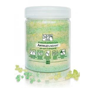 Соль крымская морская ароматическая антицеллюлитная для ванн и натираний SPA программа 500г Царство ароматов купить